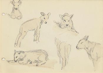Jack Butler Yeats, Spring Lambs at Morgan O'Driscoll Art Auctions