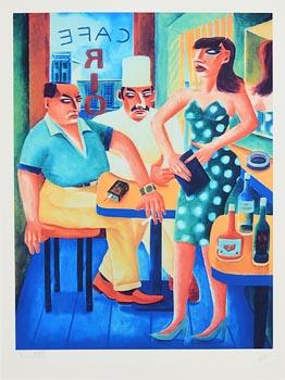 Graham Knuttel, Cafe Rio at Morgan O'Driscoll Art Auctions