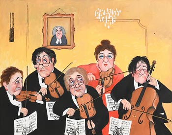 John Schwatschke, The Clonakilty Quintet at Morgan O'Driscoll Art Auctions