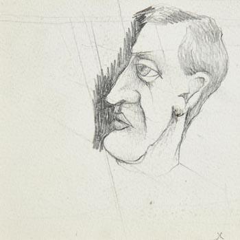 Graham Knuttel, Self Portrait at Morgan O'Driscoll Art Auctions