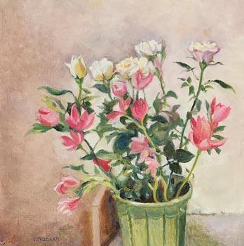 Geraldine  M. O'Brien, Still Life - Vase of Flowers at Morgan O'Driscoll Art Auctions