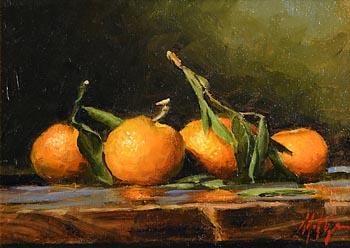 Mat Grogan, Still Life - Oranges at Morgan O'Driscoll Art Auctions