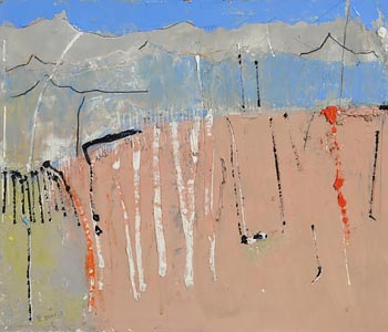 Mike Fitzharris, Landscape with Silver Birch at Morgan O'Driscoll Art Auctions