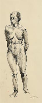 Daniel O'Neill, Female Nude at Morgan O'Driscoll Art Auctions