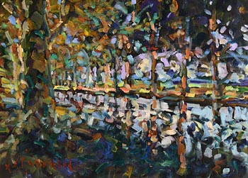 Arthur K. Maderson, September Evening, Le Canal du Midi, France at Morgan O'Driscoll Art Auctions