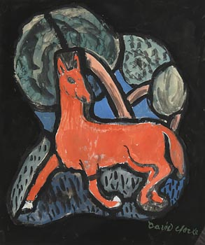 David Clarke, Little Red Horse, Design for Stained Glass at Morgan O'Driscoll Art Auctions