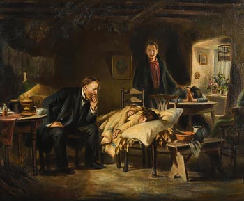 J.M. Kavanagh, The Doctor's Visit at Morgan O'Driscoll Art Auctions