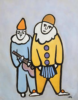 Markey Robinson, Clowns at Morgan O'Driscoll Art Auctions