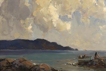James Humbert Craig, Awaiting the Catch, Antrim Coast at Morgan O'Driscoll Art Auctions