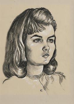Harry Aaron Kernoff, Aran Girl (1957) at Morgan O'Driscoll Art Auctions