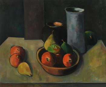 Peter Collis, Still Life with Blue Vase at Morgan O'Driscoll Art Auctions