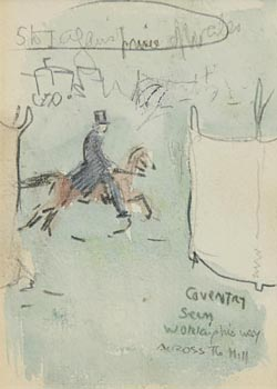 Jack Butler Yeats, Coventry Seen Working His Way Across the Hill at Morgan O'Driscoll Art Auctions