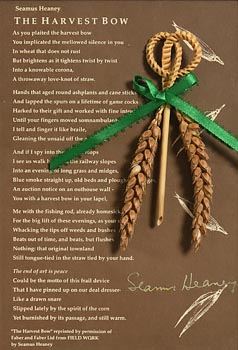 Seamus Heaney, The Harvest Bow at Morgan O'Driscoll Art Auctions