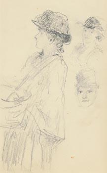 John Butler Yeats, At the Market at Morgan O'Driscoll Art Auctions