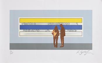 Robert Ballagh, Two People Looking at Michael Farrell at Morgan O'Driscoll Art Auctions