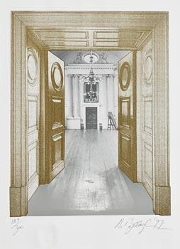 Robert Ballagh, The Dining Hall Kings Inns at Morgan O'Driscoll Art Auctions