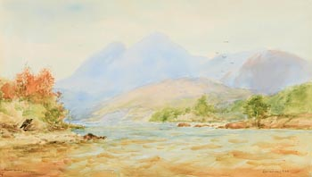 Alexander Williams, Rough Weather, Killarney at Morgan O'Driscoll Art Auctions