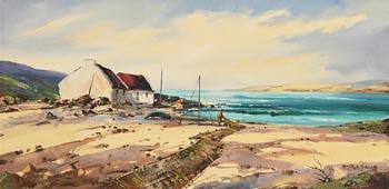 Arthur H. Twells, Fisherman Tending Nets at Morgan O'Driscoll Art Auctions