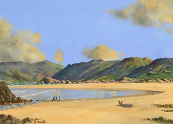 David Anthony Overend, Summertime Bunbeg, Co. Donegal at Morgan O'Driscoll Art Auctions