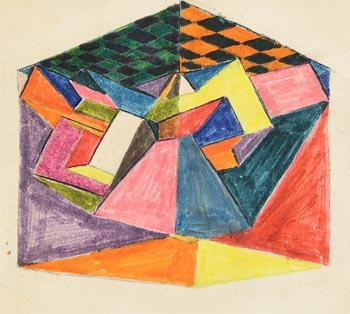 Harry Aaron Kernoff, Cubist Study at Morgan O'Driscoll Art Auctions