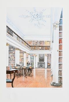 David Evans, King's Inns Library (1998) at Morgan O'Driscoll Art Auctions