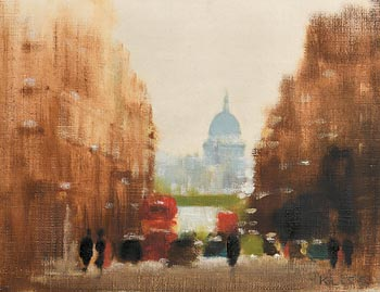 Anthony Robert Klitz, St. Paul's and Fleet Street, London at Morgan O'Driscoll Art Auctions