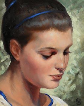 Ken Hamilton, Girl with Blue Ribbon in Her Hair at Morgan O'Driscoll Art Auctions