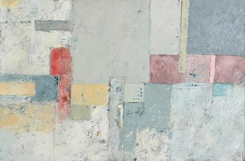 Michael Hales, Pale City, Shaded Walk (2019) at Morgan O'Driscoll Art Auctions