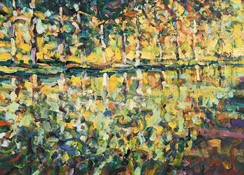 Arthur K. Maderson, Evening Study, Canal du Midi, France at Morgan O'Driscoll Art Auctions
