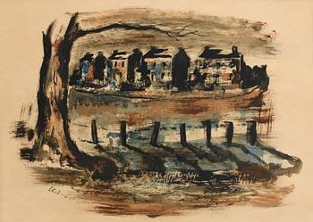 Seamus O'Colmain, On the Canal, Dublin at Morgan O'Driscoll Art Auctions