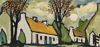 Markey Robinson, Village in Moonlight at Morgan O'Driscoll Art Auctions