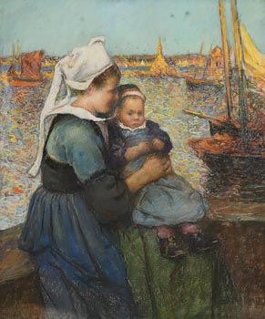 Henri Jules Guinier, Mother and Child at Morgan O'Driscoll Art Auctions