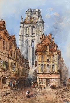 Thomas Richard Colman Dibdin, Amiens Cathedral at Morgan O'Driscoll Art Auctions