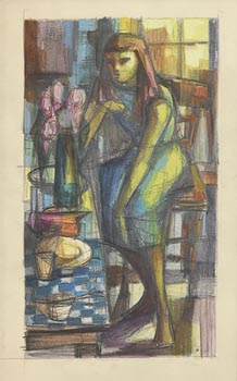 George Campbell, Pink Rose at Morgan O'Driscoll Art Auctions