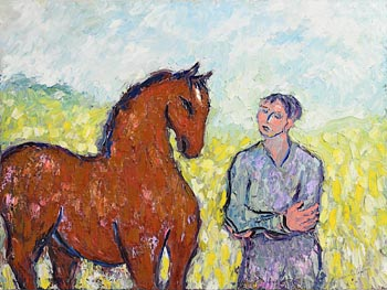 Declan O'Connor, Calm with Horses! at Morgan O'Driscoll Art Auctions