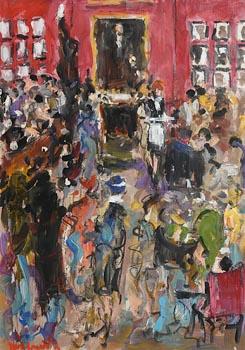 Marie Carroll, Shelbourne Bar at Morgan O'Driscoll Art Auctions