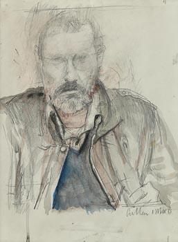Charles Cullen, Self Portrait at Morgan O'Driscoll Art Auctions