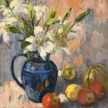 Nia MacKeown, Lilies and Apples at Morgan O'Driscoll Art Auctions