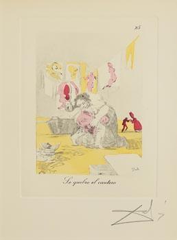 Salvador Dali, Caprices de Goya: La Punition (1970's) at Morgan O'Driscoll Art Auctions