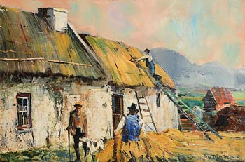 Anne Tallentire, Thatching, Wexford at Morgan O'Driscoll Art Auctions