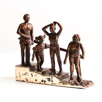 Fran Lambkin, Seapoint Swimmers at Morgan O'Driscoll Art Auctions