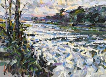 Arthur K. Maderson, Evening Study, River Blackwater at Morgan O'Driscoll Art Auctions