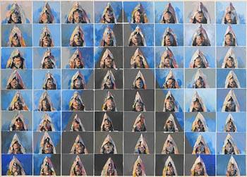 Charles Harper, Skellig Monks 3 (2009) at Morgan O'Driscoll Art Auctions