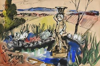 Norah Allison McGuinness, Wicklow Garden at Morgan O'Driscoll Art Auctions