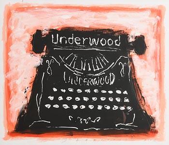 Neil Shawcross, Underwood Typewriter (2006) at Morgan O'Driscoll Art Auctions