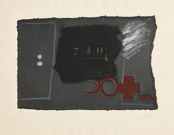 Antoni Tapies, 740 (1979) at Morgan O'Driscoll Art Auctions