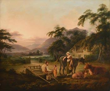 John George Mulvany, Family at Rest near Carlingford Lough (c.1826-1834) at Morgan O'Driscoll Art Auctions