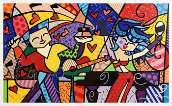Romero Britto, Latin Grammies at Morgan O'Driscoll Art Auctions