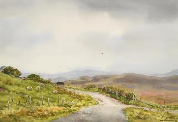 Frank Egginton, Sheep Grazing, Connemara (1987) at Morgan O'Driscoll Art Auctions