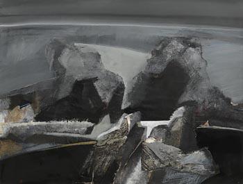 Barbara Rae, Headland at Night (1976) at Morgan O'Driscoll Art Auctions